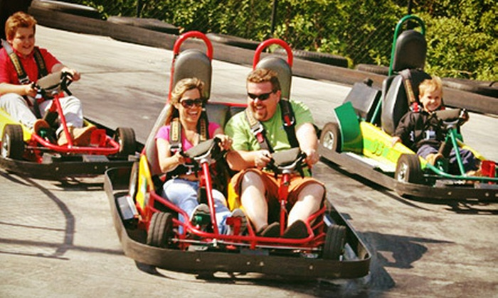 Clubhouse Fun Center - Highland: Fall-Fun Pack with Go-Karting, Mini Golf, Cider, and Tokens for Two or Four at Clubhouse Fun Center (Up to 57% Off)