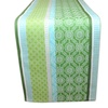 Garden Gate Stripe Jacquard Table Runner