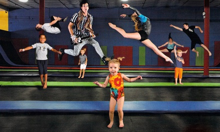 Two-Hour Play Session at Indoor Trampoline Park with Foam Pit for One, Two, or Four  (Up to 60% Off)