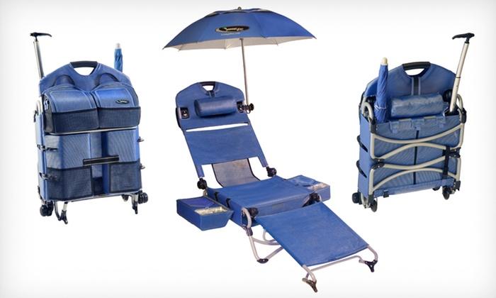 Loungepac Folding Beach Chair Groupon Goods