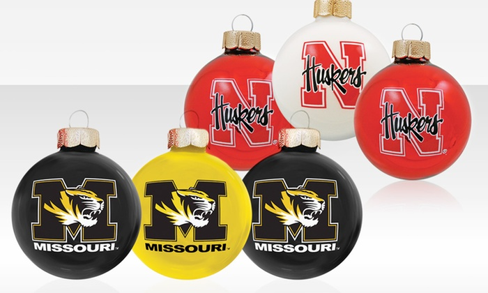 3-Pack of NCAA Ornaments:  3-Pack of NCAA Ornaments. Multiple Teams Available. Free Returns.