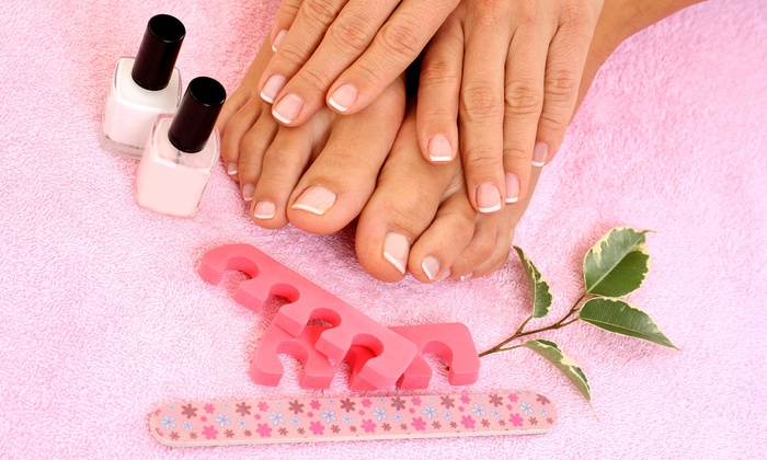 Nails Star - Plano: One or Three Groupons, Each Good for a Manicure and Pedicure or One Shellac Manicure at Nails Star (Up to Half Off)