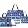 French West Indies Retro Dot Teal Luggage