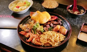 Sakura Teppanyaki and Sushi: Sushi, Teppanyaki, and Thai Food at Sakura Teppanyaki and Sushi (Up to 47% Off). Two Options Available.