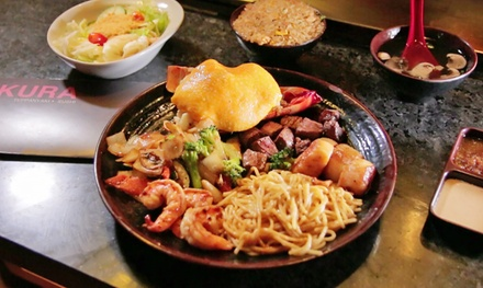 Sushi, Teppanyaki, and Thai Food at Sakura Teppanyaki and Sushi (Up to 44% Off). Two Options Available.