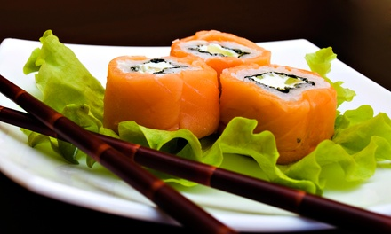 One or Two Groupons, Each Good for Sushi and Drinks at Kampai Sushi Bar (Up to 47% Off)