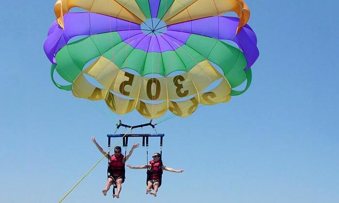 Lake Ozark Parasail - Bridgeport Marina: $96 for a Tandem Parasail Ride for Two from Lake Ozark Parasail ($160 Value)