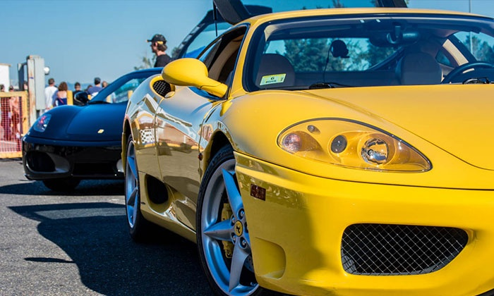 Experience Supercars - Burlington Mall: Ferrari or Lamborghini Experience from Experience Supercars (Up to 82% Off). Five Options Available.