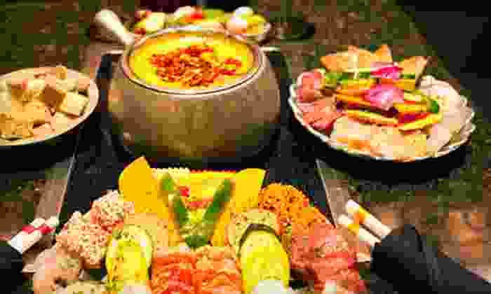 Simply Fondue - Mission Viejo: Four-Course Fondue Dinner for Two or Four at Simply Fondue in Mission Viejo (Up to 66% Off)