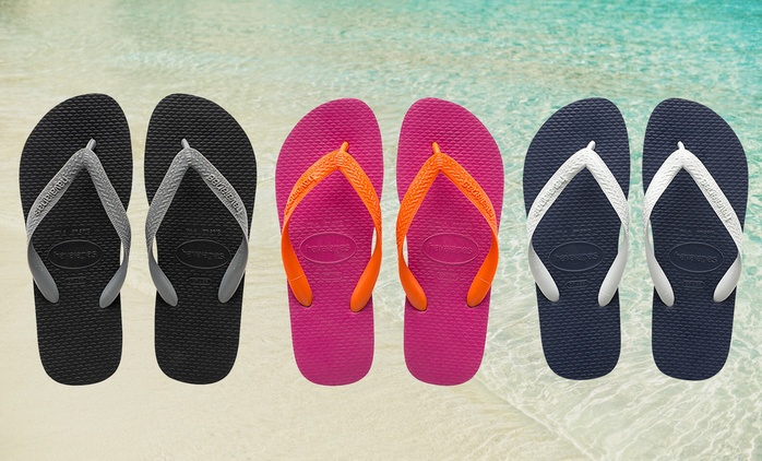 From $14.95 for a Pair of Havaianas Top Thongs in Choice of Style and Size (Don't Pay $24.99)