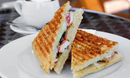 Vegan Snack with Cake and Drink for One or Two at 3 Three's Coffee Lounge (Up to 36% Off)