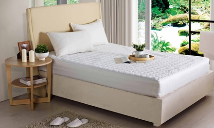 Quattro Plus Pinsonic-Quilted Poly-Twill Mattress Pad