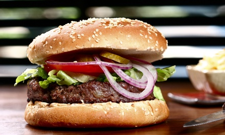 $14 for Two Groupons, Each Good for $12 Worth of Burgers, Fries, and Shakes at Burgers & More ($24 Value)