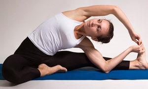 Esquea Yoga Therapy & Fitness: 10 Yoga Classes or Four Private Yoga Lessons with Cinthya at Esquea Yoga Therapy & Fitness (Up to 66% Off)