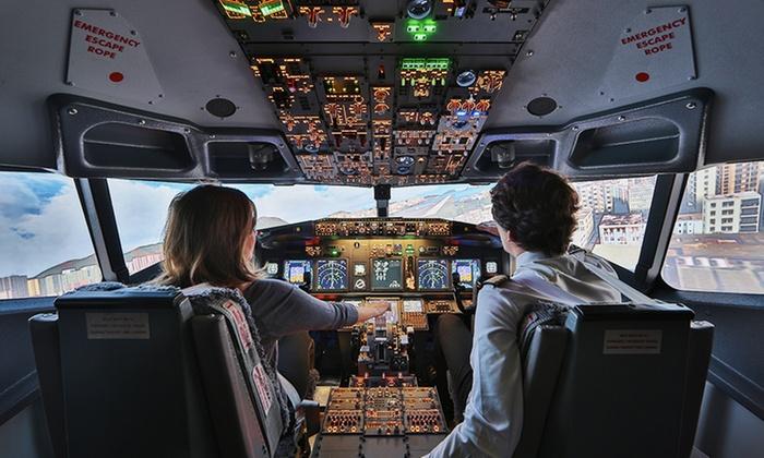 European Flight Simulator - Gosselies: Prenez les commandes d'un simulateur de vol avec enregistrement vidéo dès 114 € avec European Flight Simulator
