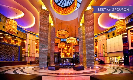 groupon daily deal - Stay with Dining Credit at Foxwoods Resort Casino. Dates into May Available.