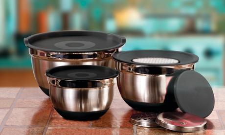 Stainless Steel Mixing Bowl Kitchen Prep Set (9-Piece) b9d29420-1fb6-11e7-b2cb-002590604002