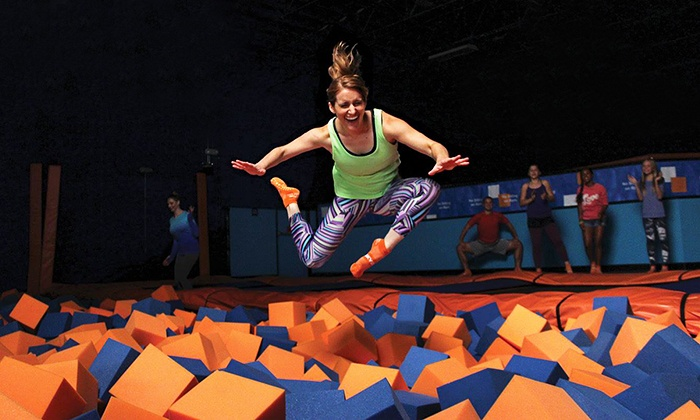 Sky Zone - Sky Zone - San Marcos: Weekday or Weekend Jump Pass or 10-Person Birthday Party with Pizza and Soft Drinks at Sky Zone (Up to 38% Off)