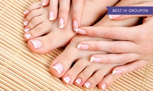 Lisa Lee @Making Waves Hair Salon: Basic or Gel Manicure with Basic Pedicure from Lisa Lee @Making Waves Hair Salon (42% Off)