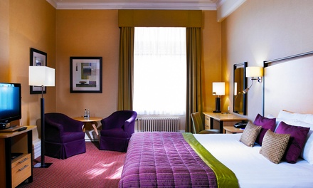 Harrogate: 1 or 2 Nights for Two with Meals and Leisure Access; with Option for Wine at 4* The Majestic Hotel