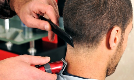 Men's Designer Cut or a Cut and Shave Package at Emulate Barbershop (Up to 49% Off)