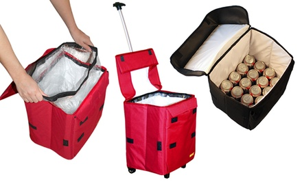 groupon daily deal - Dbest Products Cooler Smart Cart in Black or Red. Free Returns.