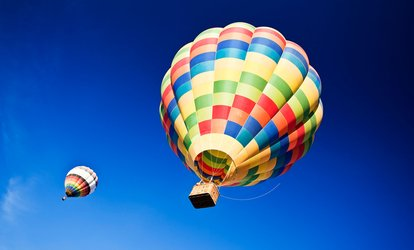 53% Off Hot Air Balloon Rides with Champagne