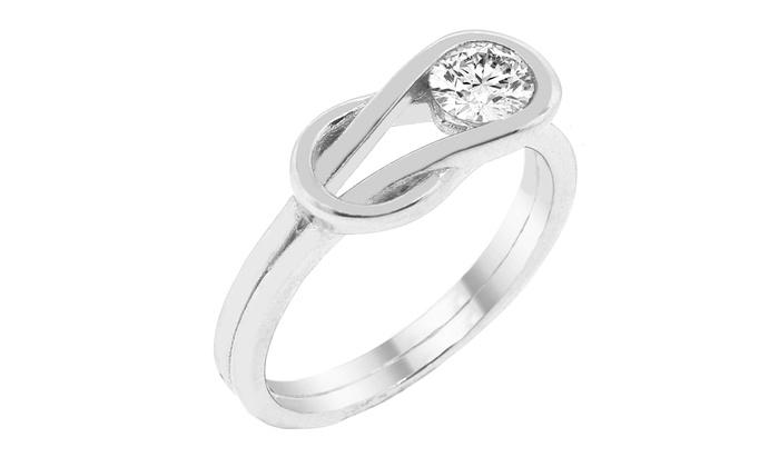 cad4c451930f9 Swarovski Crystals Knot Ring   Groupon Goods
