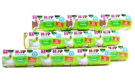 Fino a 24 omogeneizzati biologici Hipp, disponibili in vari gusti da 16,90 € (fino a 43% di sconto)