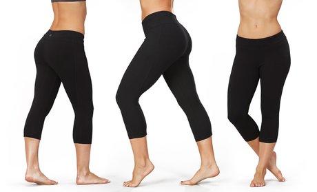 Bally Total Fitness Women's Ultimate Slimming Capri Leggings in Black