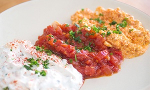Sababa Mediterranian Grill: Mediterranean Food for Two or Four at Sababa Mediterranean Grill (40% Off)
