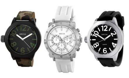 Men's Watches from Breda. Multiple Styles and Colours Available.