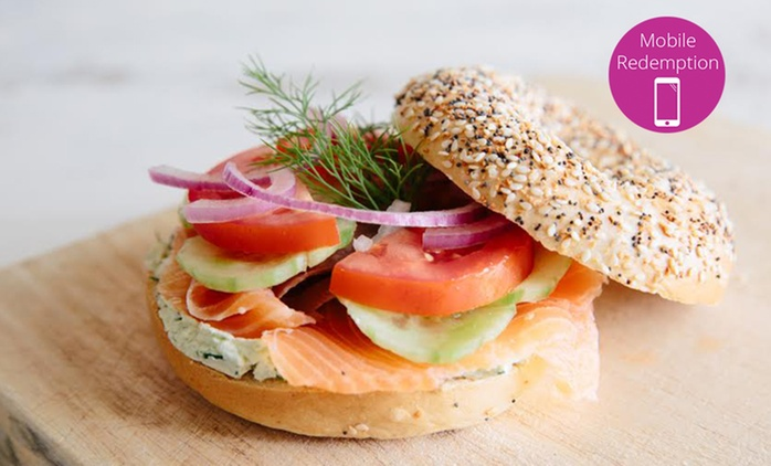 New York-Style Gourmet Bagel - One ($6) or Two ($10.50) at Garden Park Kitchen, CBD (Up to $20 Value)
