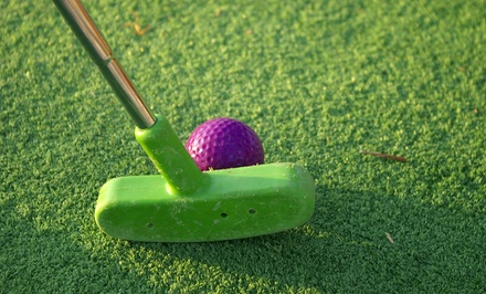 Mini Golf for Two or Four or Large Bucket of Balls for Driving Range  at Cabot Miniature Golf (Up to 56% Off)