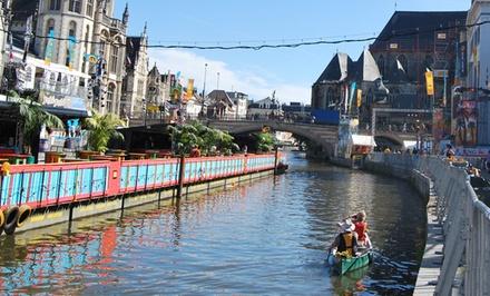 VIP-kano arrangement voor 2 door Gent met champagne en amuse van gerookte zalm of oesters bij Nomad & Rebel