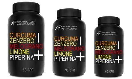 Fino a 720 capsule di integratore dimagrante A.I.F. a base di curcuma, zenzero, melograno, limone e piperina