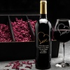 Up to 62% Off Custom Etched Infinity Symbol Bottle of Wine