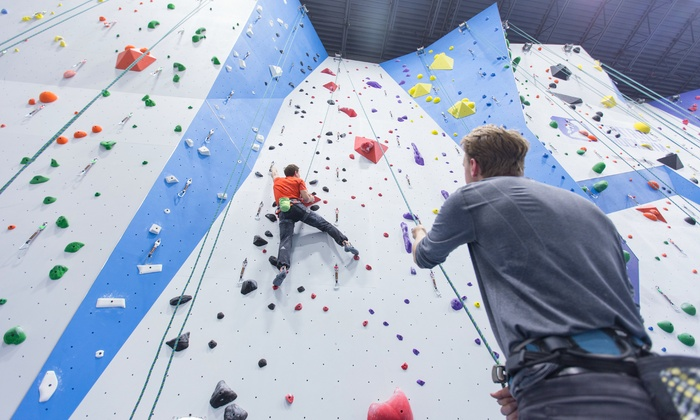 Central Rock Gym - Randolph: One-Month Rock-Climbing Membership or One-Day Climbing Pass with Belay Class at Central Rock Gym (Up to 51% Off)