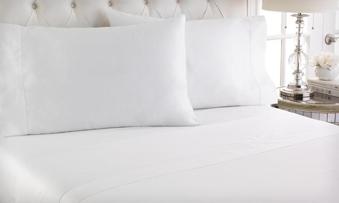 Cotton Royale 400-Thread-Count Sheet Set: Cotton Royale 400-Thread-Count Sheet Set (Up to 54% Off). Multiple Colours Available.