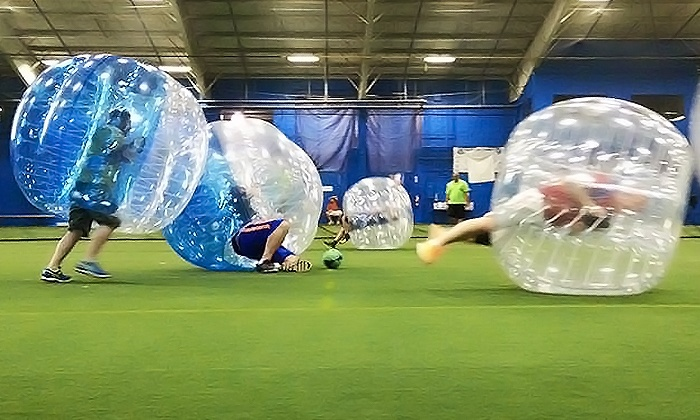 Neo Bubble Soccer - Cleveland: 5 or 10 Open Bubble-Night Drop-In Games at N.E.O. Bubble Soccer (Up to 50% Off)