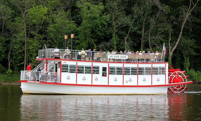 St. Charles Paddlewheel Riverboats - St. Charles: $9 for a Public Riverboat Cruise for Two from St. Charles Paddlewheel Riverboats ($15 Value)
