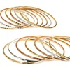 7-PieceSilver-, Yellow-Gold-, or Rose-Gold-Plated Brass Bangle Sets