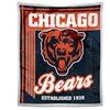 "50""x60"" Chicago Bears NFL Mink Sherpa"