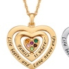 Mom Birthstone Heart Pendant from Limogés Jewelry