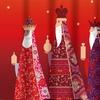 Three Kings Holiday Fabric Shower Curtain