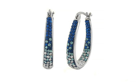 Inside-Out Crystal Hoop Earrings with Swarovski Elements