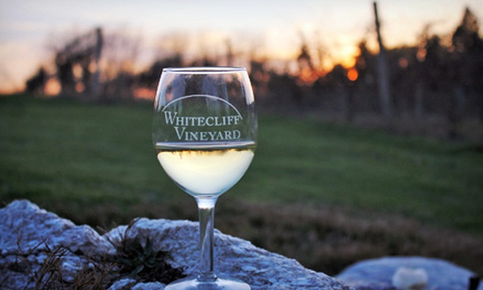Whitecliff Vineyard - Gardiner: Wine Tasting for Two, Four, or Six With a $15 Credit Toward Wine for Each Guest at Whitecliff Vineyard (Up to 54% Off)