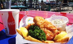 Captain's Cove: Fish and Chips for Two or Four with Soft Drinks at Captain's Cove (Up to 46% Off). Three Options Available.