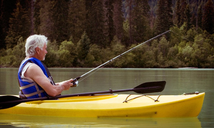 Riverfront Kayaks - Kayak and Paddleboard Rentals: $49 for a Guided Kayak Fishing Trip for One from Riverfront Kayaks ($99 Value)