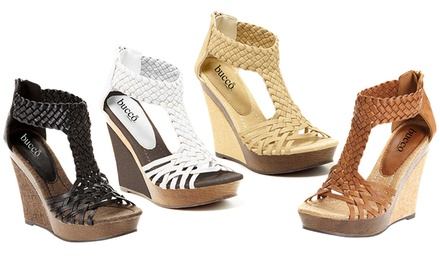 Bucco Alamea Braided Wedge Sandals
